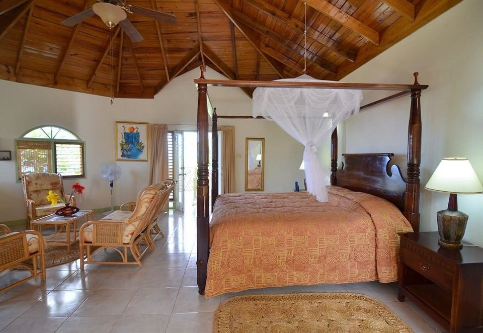Bedroom Rustic Tropical property building cottage house Resort Villa farmhouse home Suite