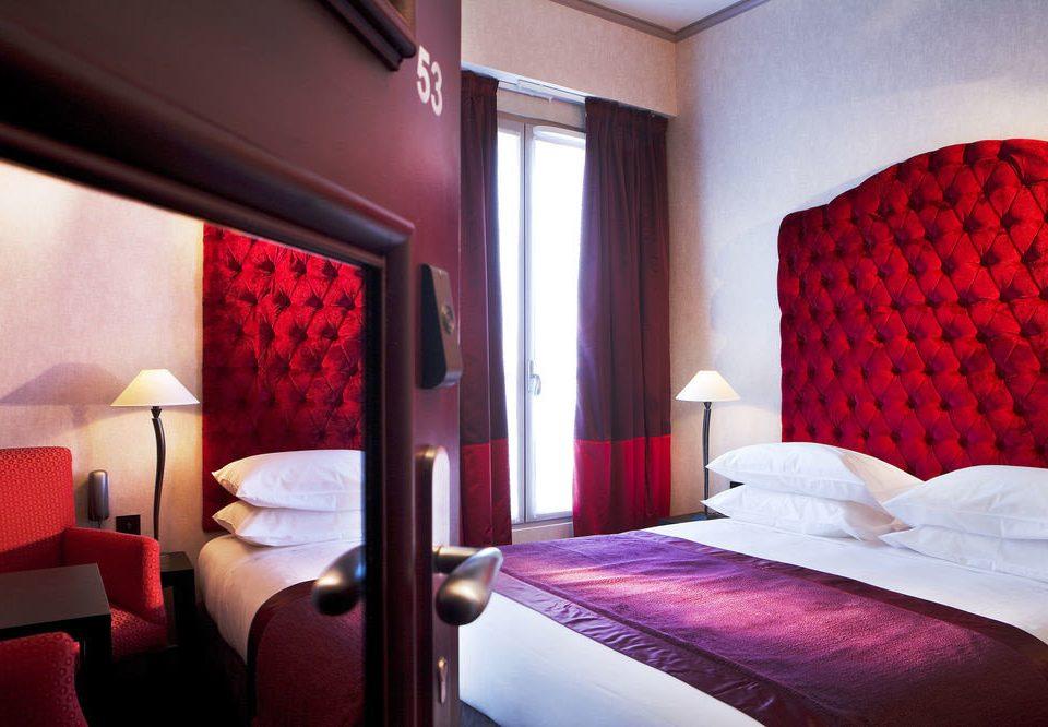 sofa red building Suite orange pillow Bedroom Resort bright