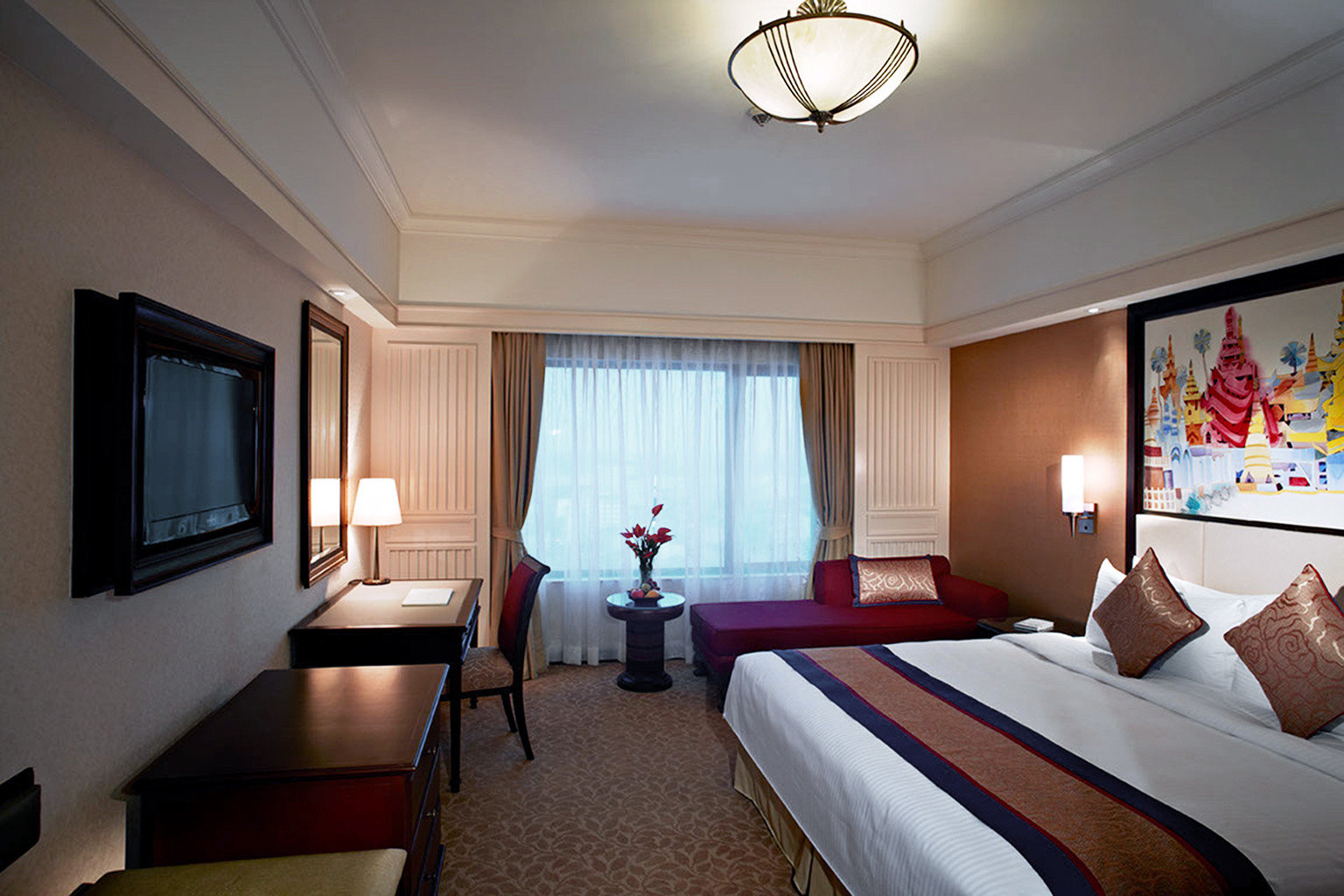 Bedroom property Suite living room cottage Resort lamp