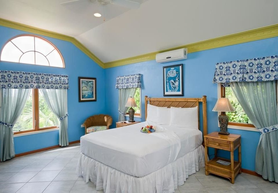 property Bedroom Resort cottage Villa home Suite blue
