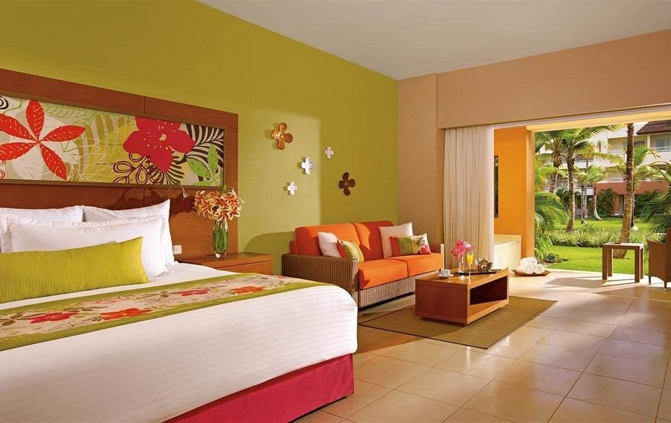 property Suite Bedroom Villa living room cottage Resort orange colored