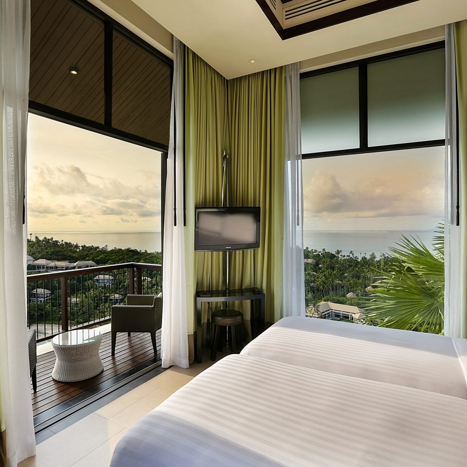 Bedroom property white Suite curtain condominium home pillow Resort Villa living room cottage