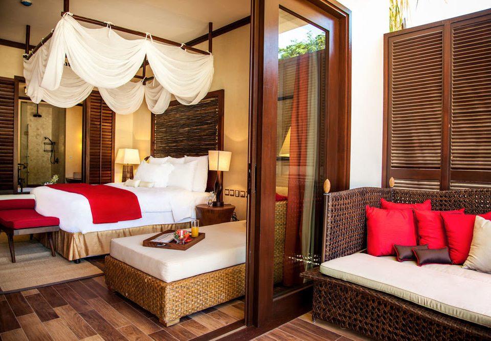 property red Suite Resort cottage pillow Villa Bedroom