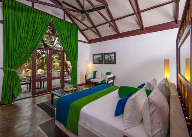 green property Resort leisure Villa cottage eco hotel Bedroom colorful colored