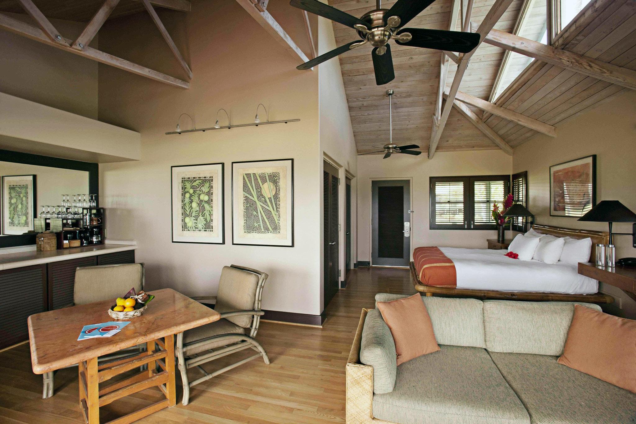 Bedroom Rustic Suite Waterfront property living room home house cottage condominium loft farmhouse Villa