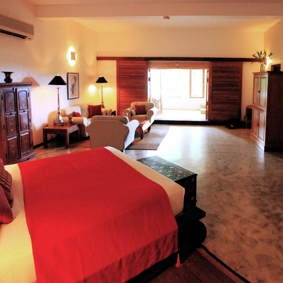 Bedroom Rustic Suite sofa property red Villa cottage lamp