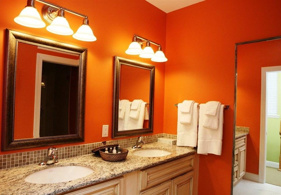 bathroom mirror sink property towel home Suite cottage Bedroom