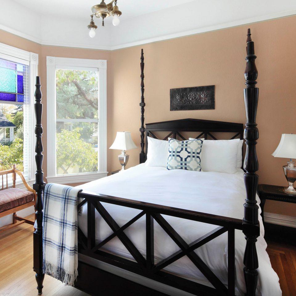 Bedroom property home hardwood cottage bed frame bed sheet Suite living room