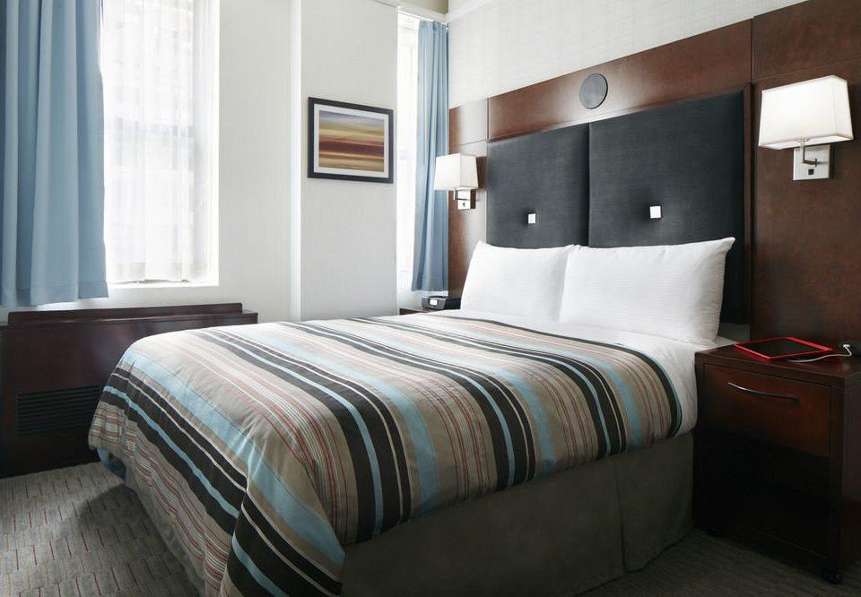 Bedroom property bed sheet Suite double bed frame duvet cover cottage lamp