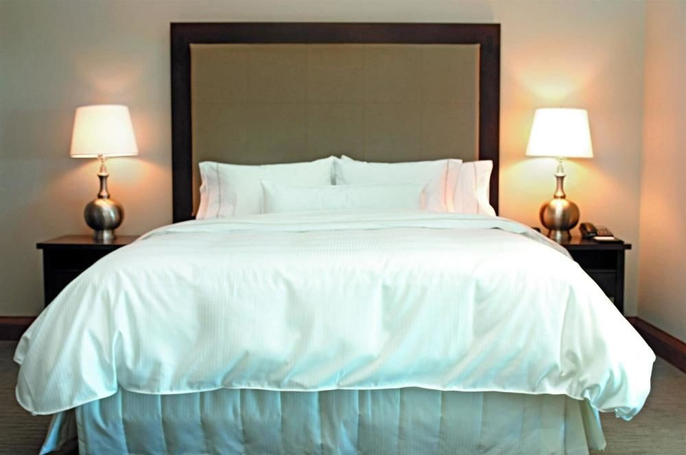Bedroom pillow white Suite bed sheet bed frame cottage lamp night