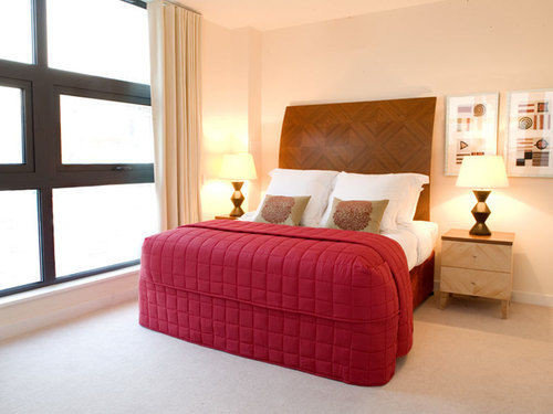 Bedroom red property Suite hardwood bed frame bed sheet living room