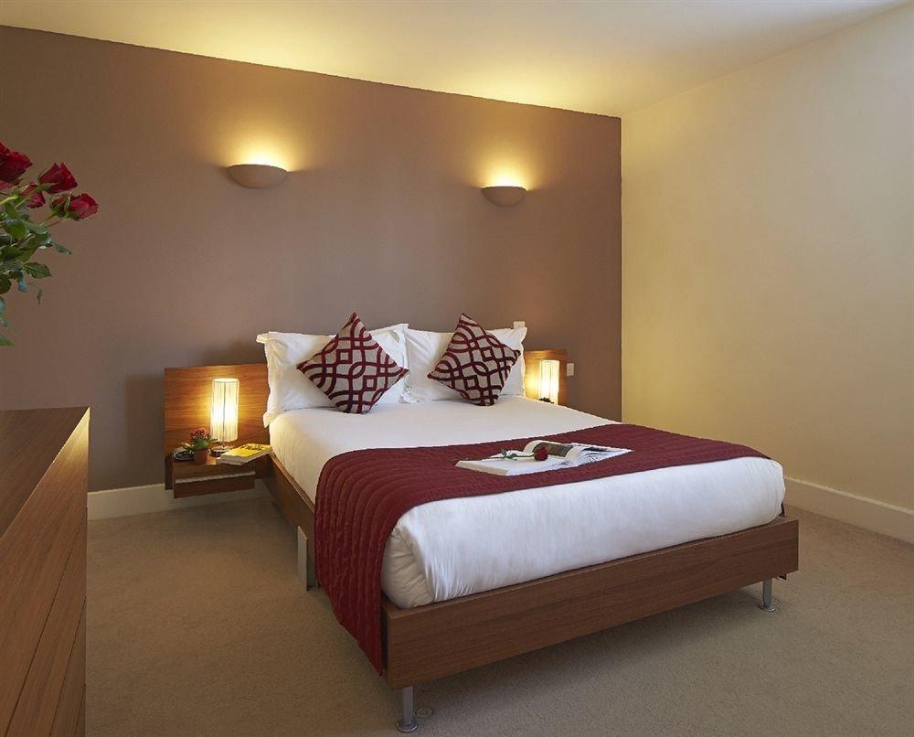 Bedroom property Suite red bed sheet bed frame cottage