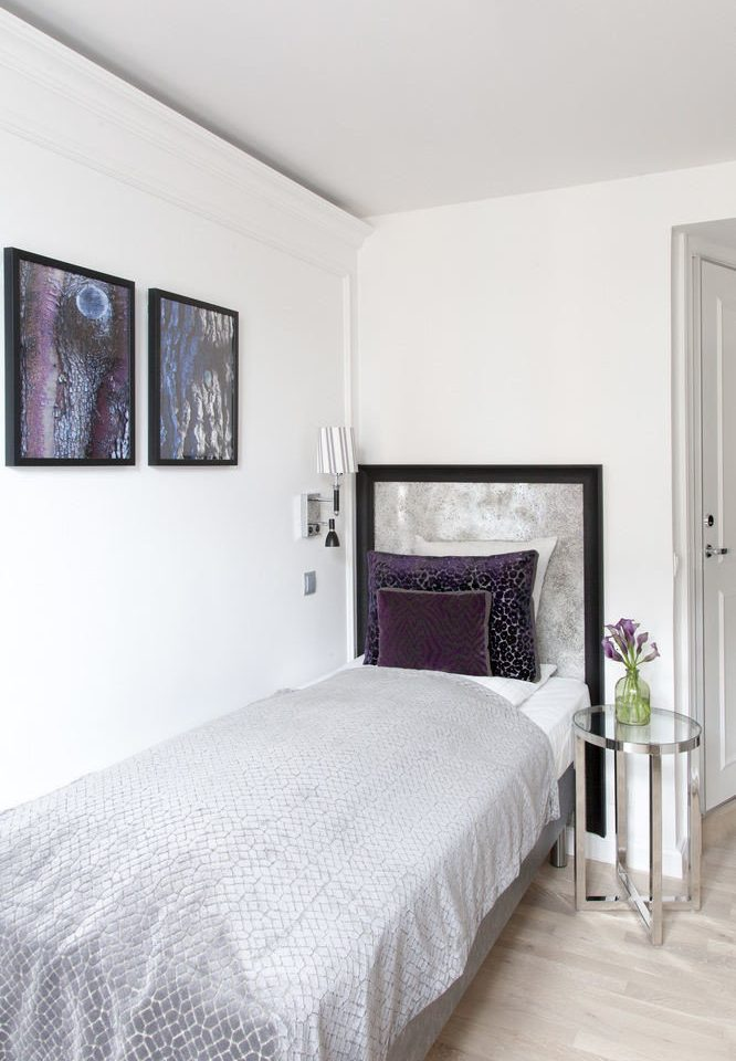 Bedroom property scene white cottage Suite bed frame pillow bed sheet