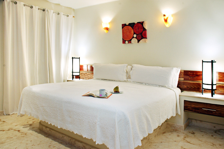 Bedroom scene Suite curtain bed sheet cottage bed frame