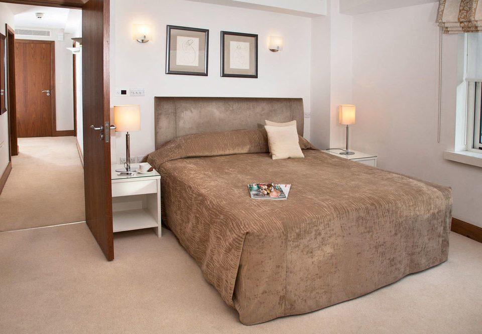 Bedroom property Suite cottage bed frame bed sheet lamp tan