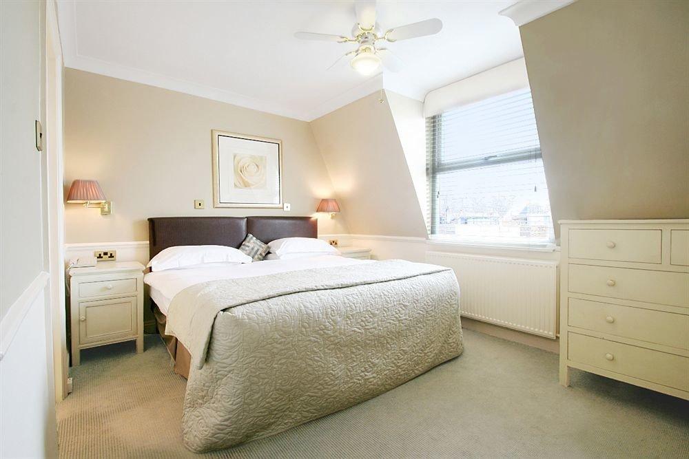 Bedroom property scene cottage home Suite bed frame tan