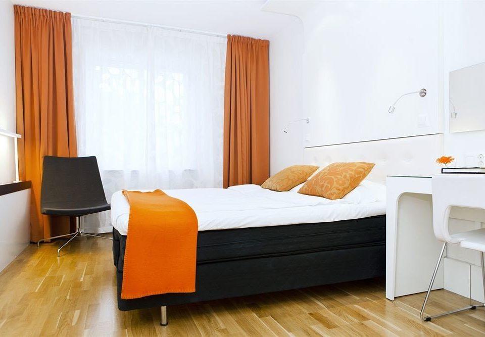 property Bedroom hardwood Suite orange bed frame living room cottage hard