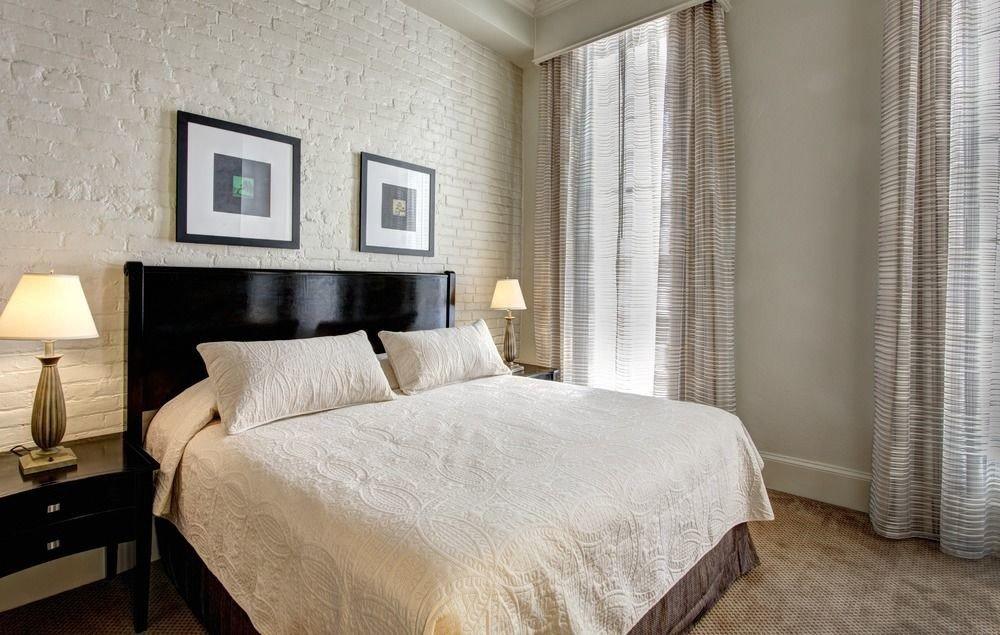 Bedroom property curtain scene Suite cottage bed frame tan