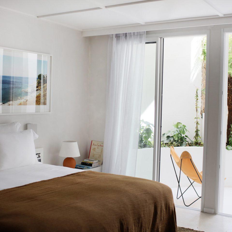 Bedroom window treatment home bed frame Suite curtain door interior designer house