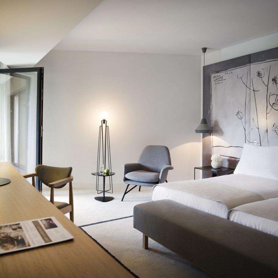 Suite living room Bedroom interior designer bed frame flooring lamp