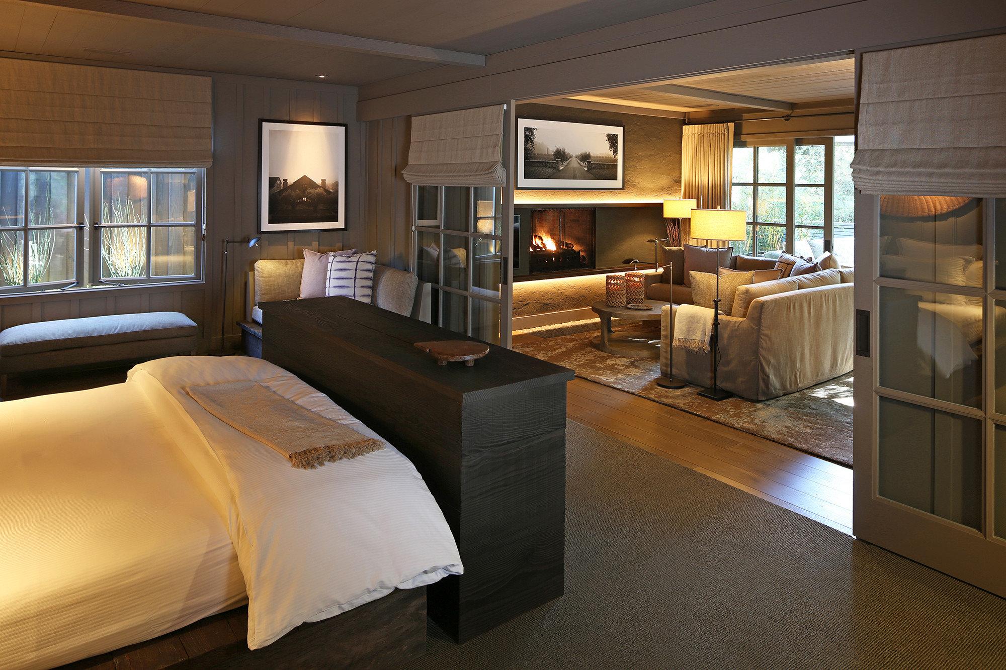 sofa Suite Bedroom bed frame flooring penthouse apartment hardwood