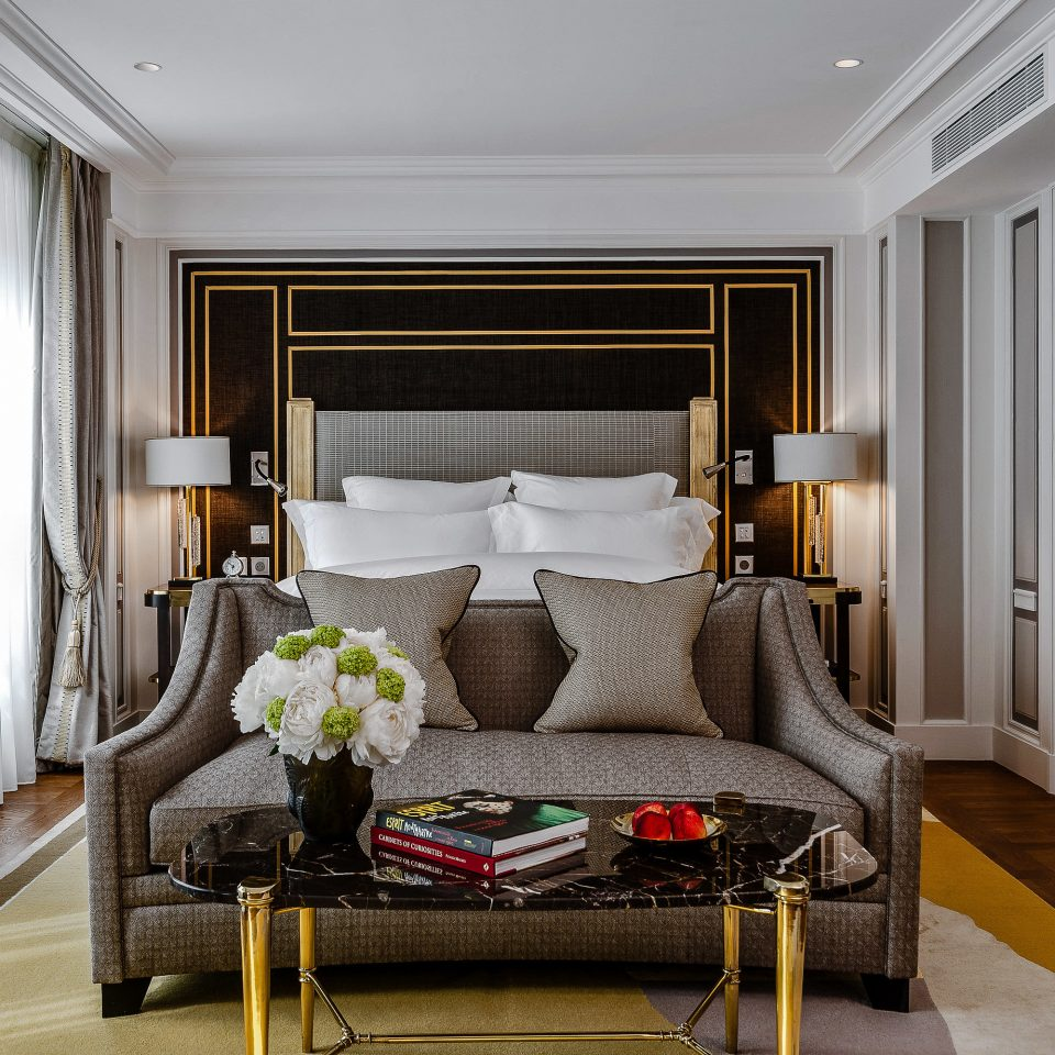 Suite Bedroom living room bed frame interior designer window treatment