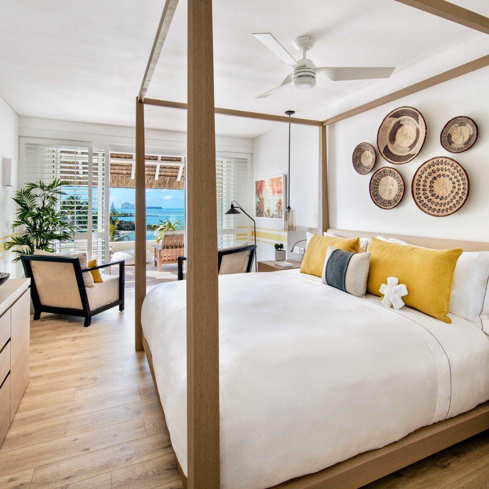 Suite Bedroom bed frame interior designer penthouse apartment living room
