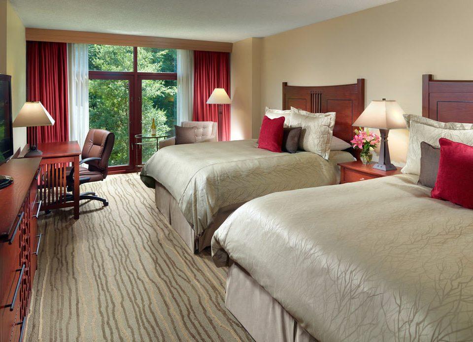 sofa Bedroom property red home Suite cottage hardwood nice living room bed sheet big