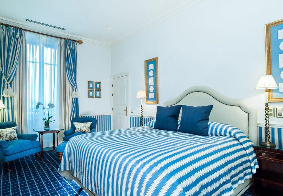 Bedroom property scene cottage home Suite living room bed sheet blue condominium