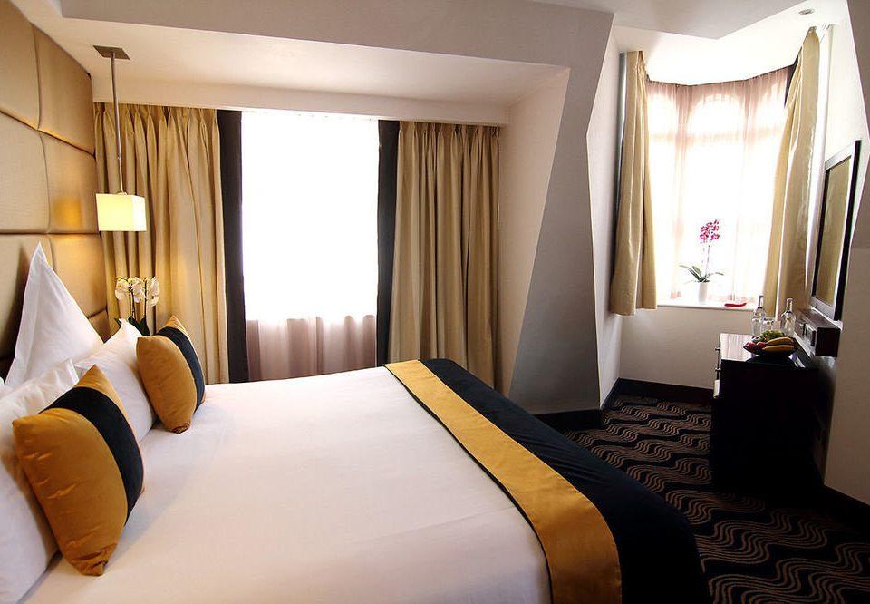 Bedroom Suite pillow bed sheet clean lamp
