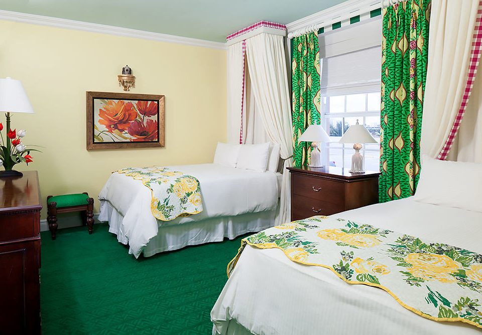 Bedroom green curtain Suite cottage bed sheet