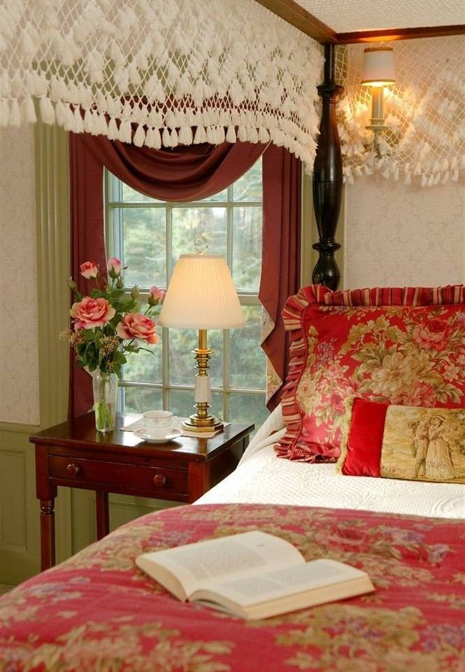 red Bedroom cottage bed sheet Suite textile nice