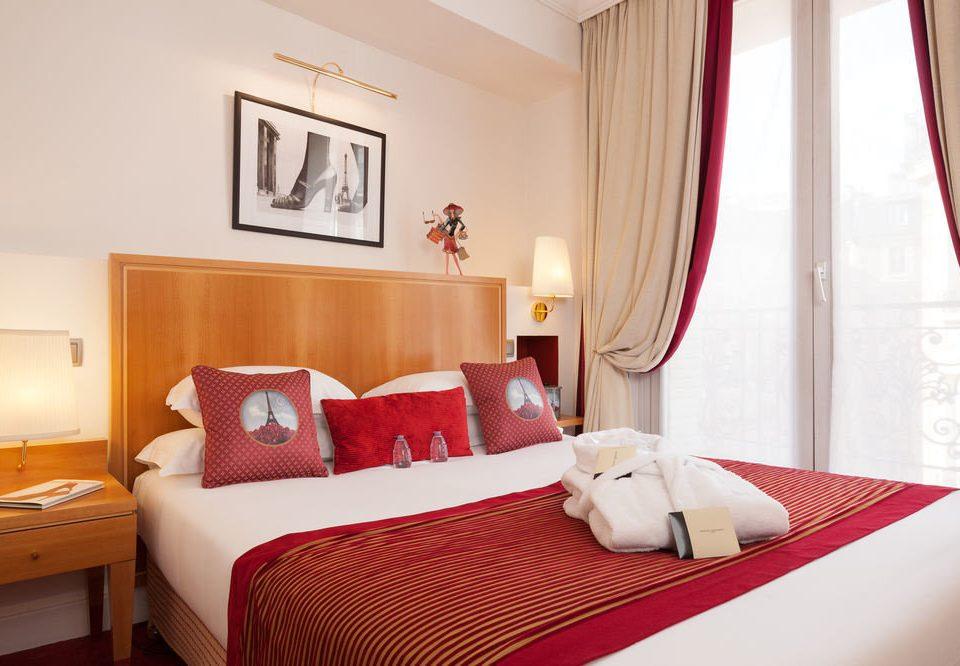 red property curtain Suite Bedroom cottage bed sheet orange