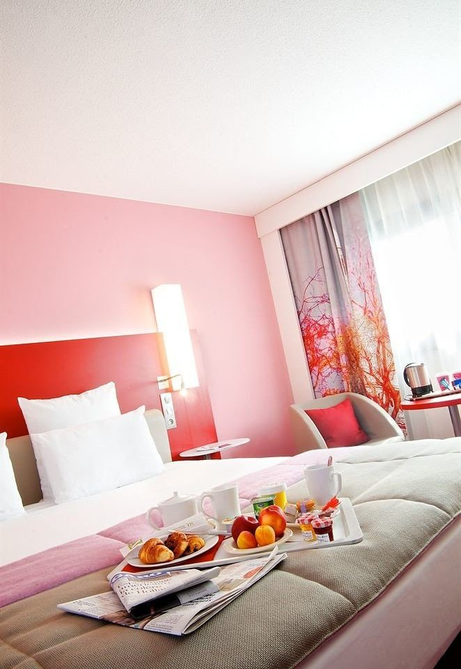red property Bedroom living room Suite home bed sheet cottage sofa