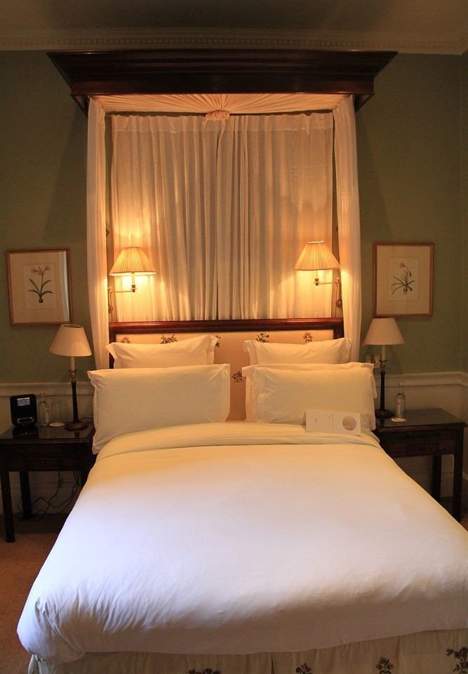 Bedroom Suite bed sheet cottage pillow lamp night