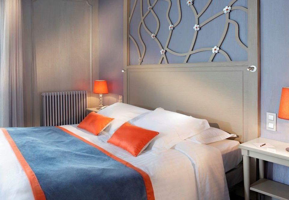 Bedroom cottage orange Suite bed sheet pillow lamp