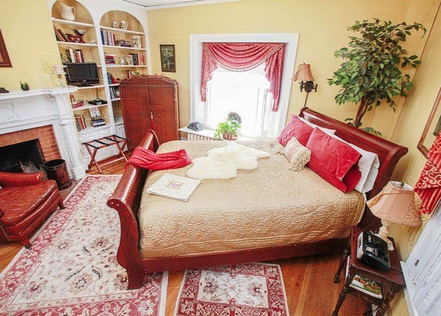 property Bedroom cottage home red living room bed sheet Suite