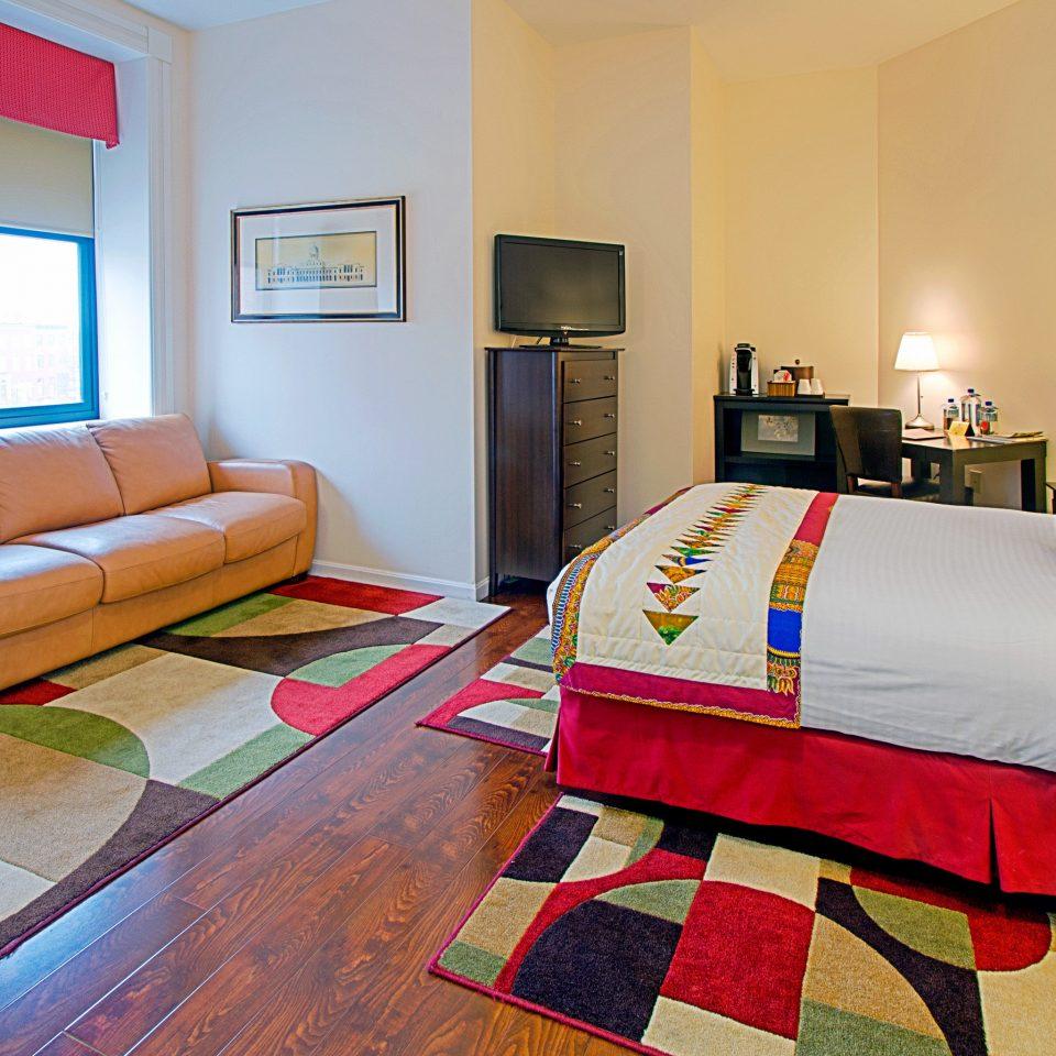 sofa property red Bedroom Suite home cottage bed sheet living room