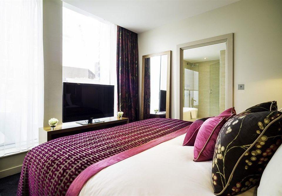 property Bedroom Suite pillow bed sheet lamp