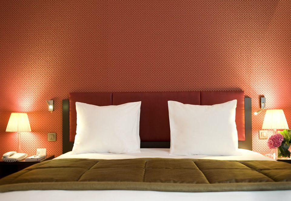 orange bed sheet Suite pillow white night Bedroom sofa