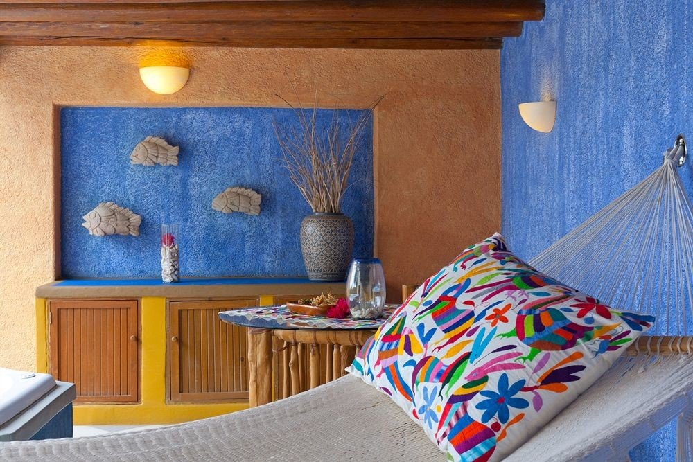 color blue house living room home cottage Suite Bedroom colorful