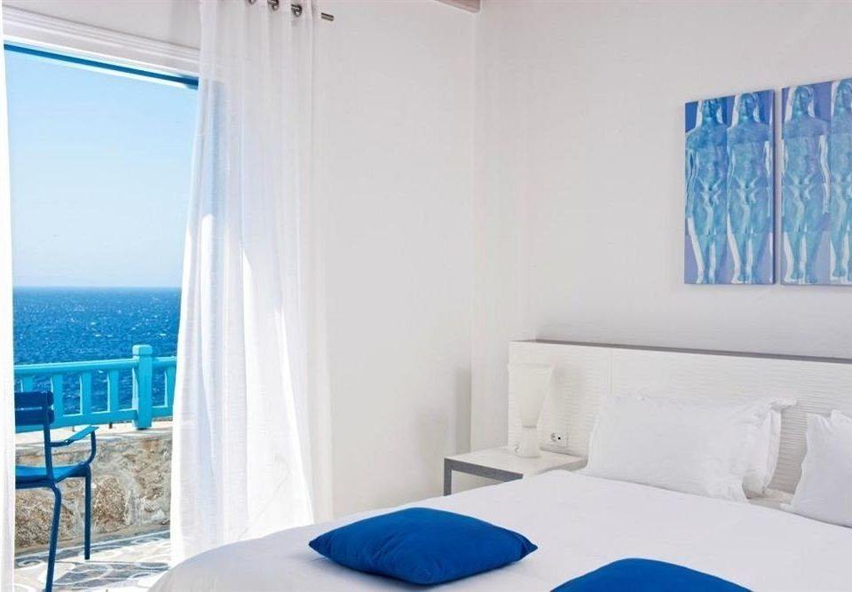 blue property scene Bedroom white Suite cottage
