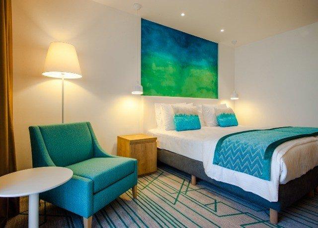 property green Suite Bedroom blue cottage lamp