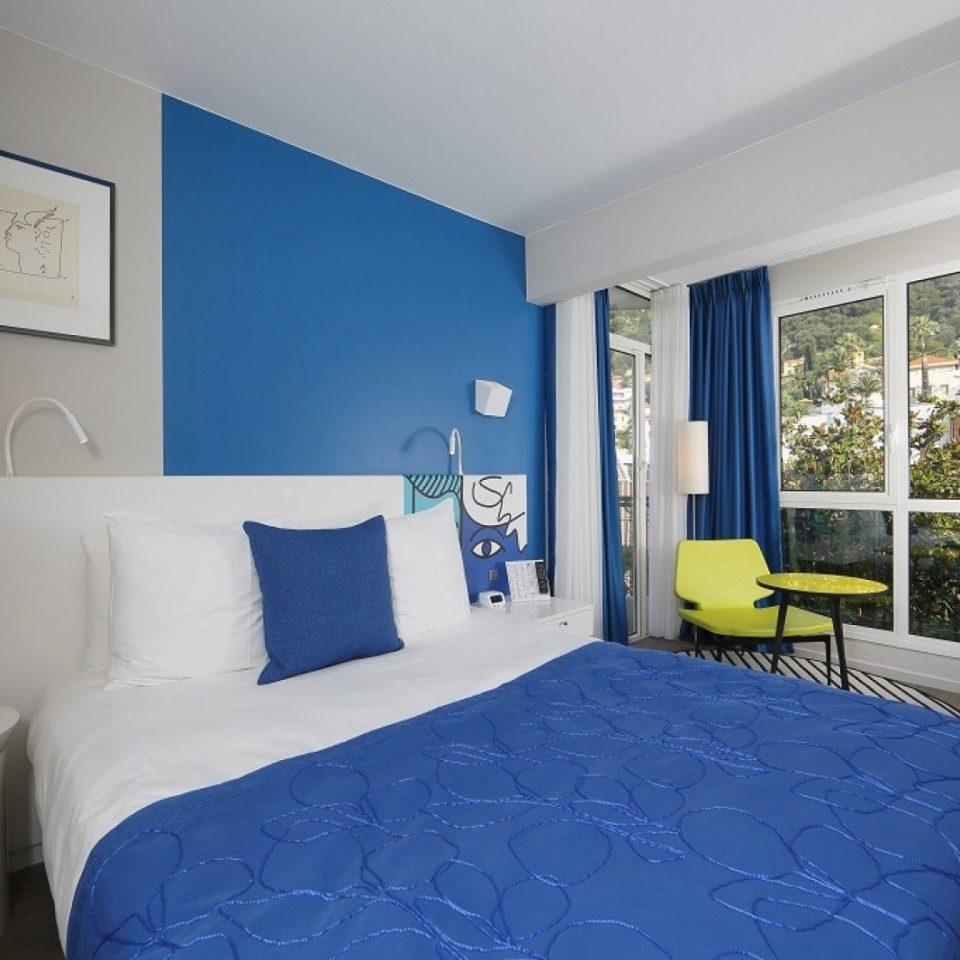 Bedroom blue property scene Suite cottage