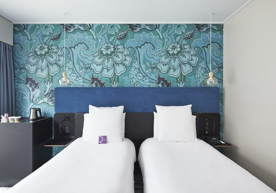 blue Suite curtain textile wallpaper living room Bedroom