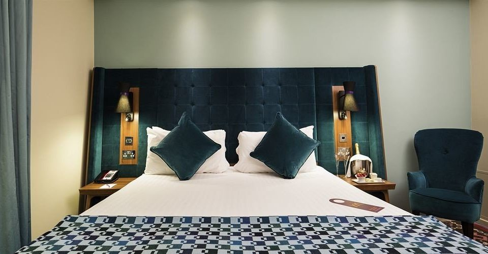 blue pillow Bedroom Suite