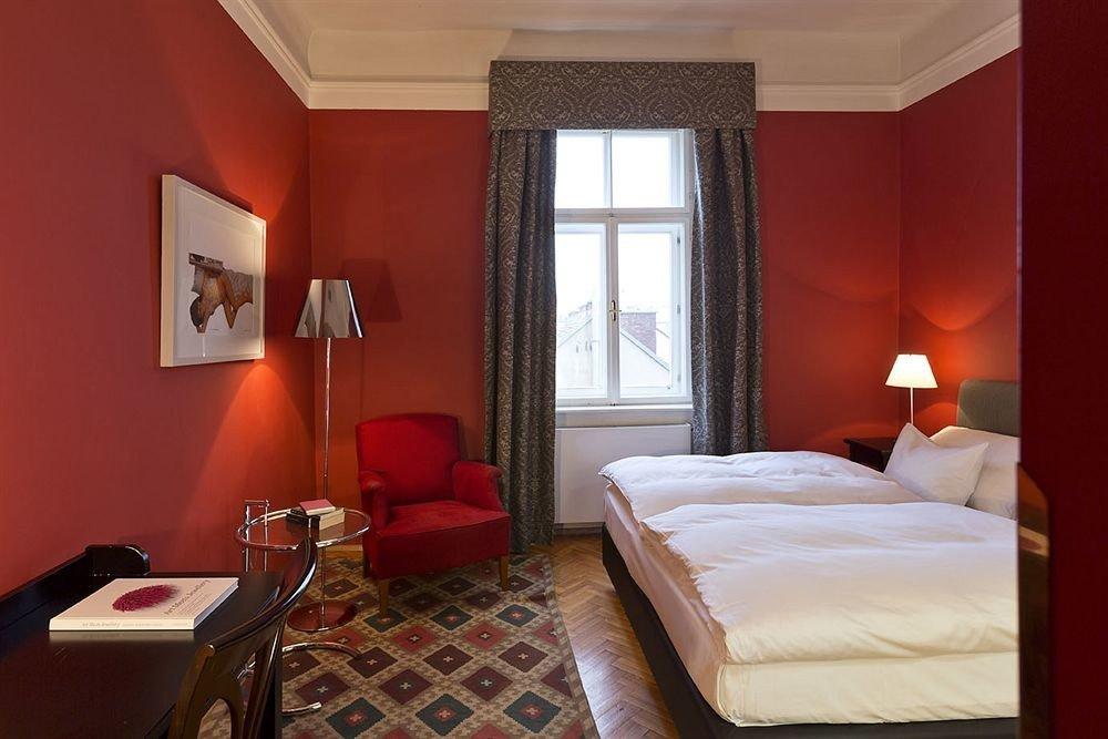 red property Suite Bedroom cottage orange bright
