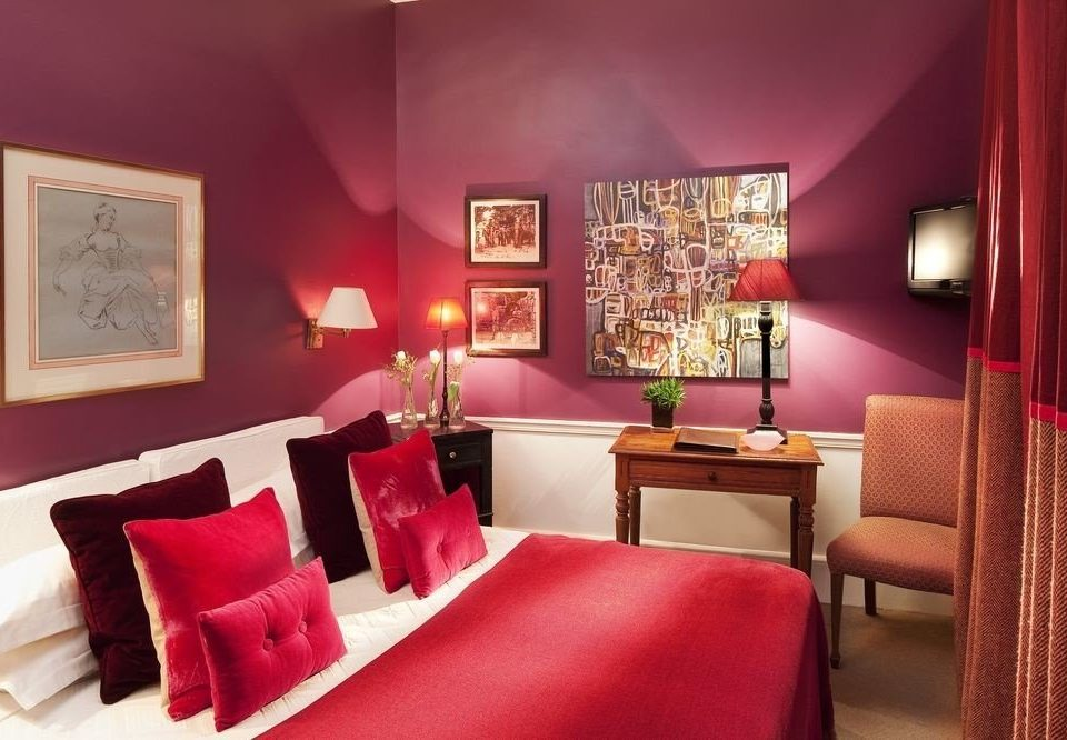 red chair property Suite scene living room Bedroom cottage