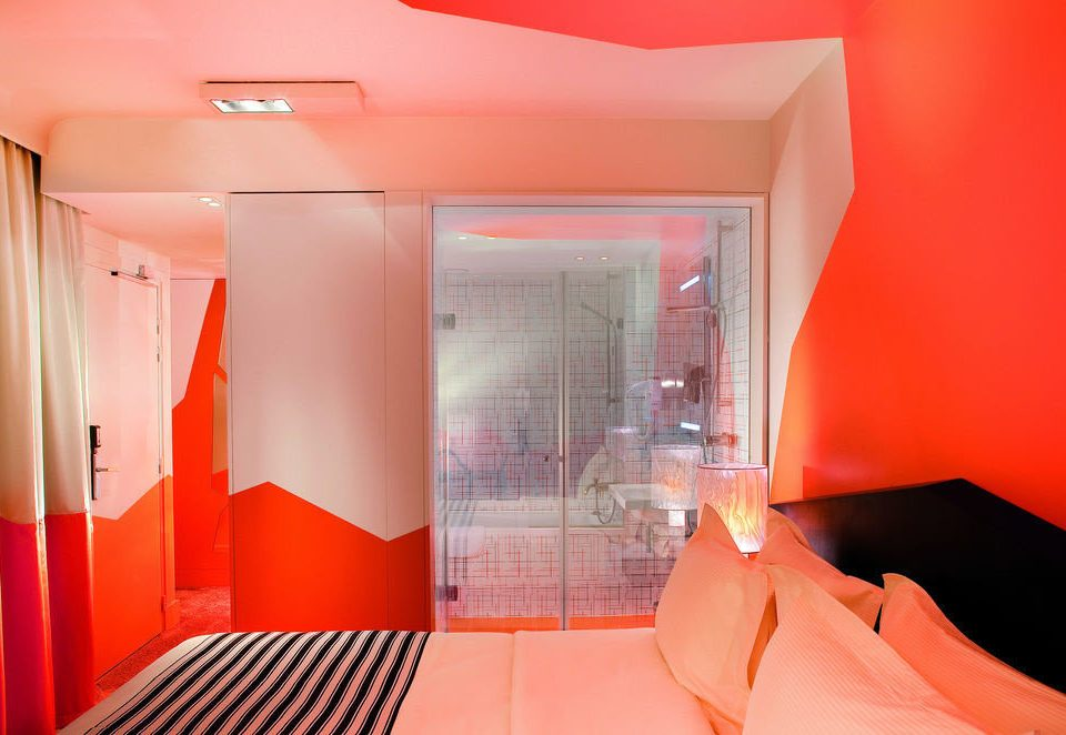 red property Suite orange Bedroom colored