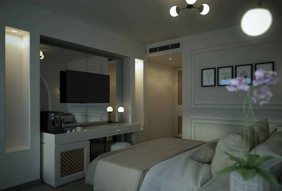property condominium Suite living room home lighting Bedroom cottage flat